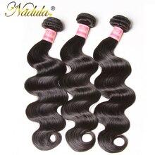 Nadula, 3 пряди, бразильские волнистые волосы, волнистые волосы, натуральный цвет, бразильские волосы, волнистые пряди, человеческие волосы Remy, волнистые волосы