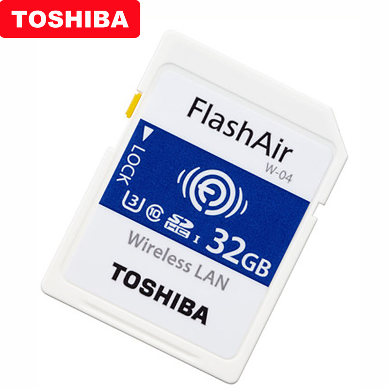 Image 3 - TOSHIBA Flash Air W 04 Memory Card 32GB 64GB WIFI SD Card 90MB/s Wireless LAN Memory Card Tarjeta sd WIFI Carte SD For Camera-in Memory Cards from Computer & Office