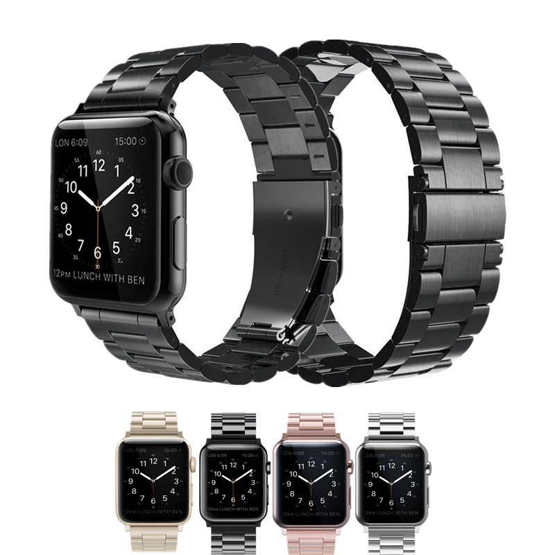 ASHEI Metal Bracelet Strap for Apple Watch Band Series 4 40mm 44mm 42mm 38mm Stainless Steel Watchband for iWatch Series 3 2 1 case link bracelet strap for apple watch 4 3 2 1 44mm 40mm band stainless steel metal buckle watchband iwatch series 42mm 38mm