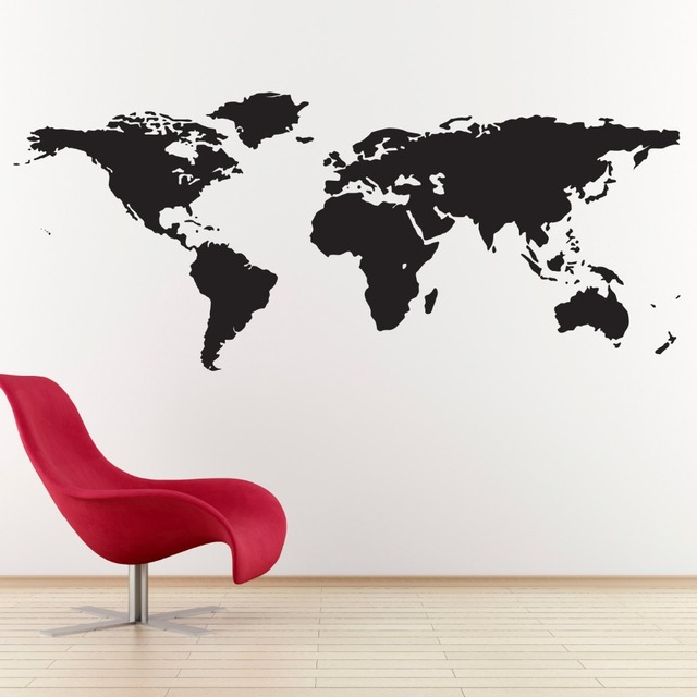 Cretive special desogned wall decals world map geography art wall cretive special desogned wall decals world map geography art wall stickers home livingroom fashion cool decor gumiabroncs Image collections