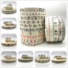 5 ярдов/партия, 1 дюйм, 25 мм, хлопковая лента ручной работы, хлопковые ленты с принтом для свадебного и Рождественского украшения, ткань для шитья своими руками