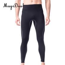 Мужские 3 мм черные неопреновые брюки для Гидрокостюма, подводного плавания, Снорклинга, серфинга, плавания, теплые брюки, леггинсы, колготки, размер s-xl
