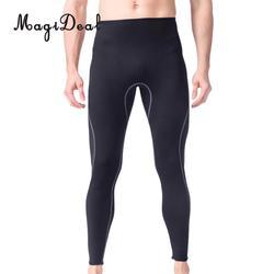 Hommes 3mm noir néoprène combinaison pantalon plongée sous-marine plongée en apnée surf natation pantalons chauds Leggings TightsFull Bodys taille S-XL