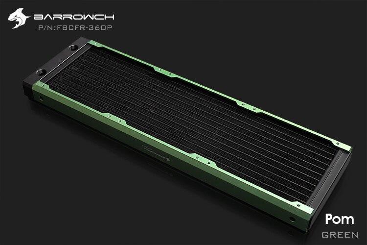 Barrowch FBCFR-360, хамелеон рыбы модульные 360 мм радиаторы, акрил/Пом съемные радиаторы, подходит для 120 мм вентиляторов - Цвет лезвия: POM-Green
