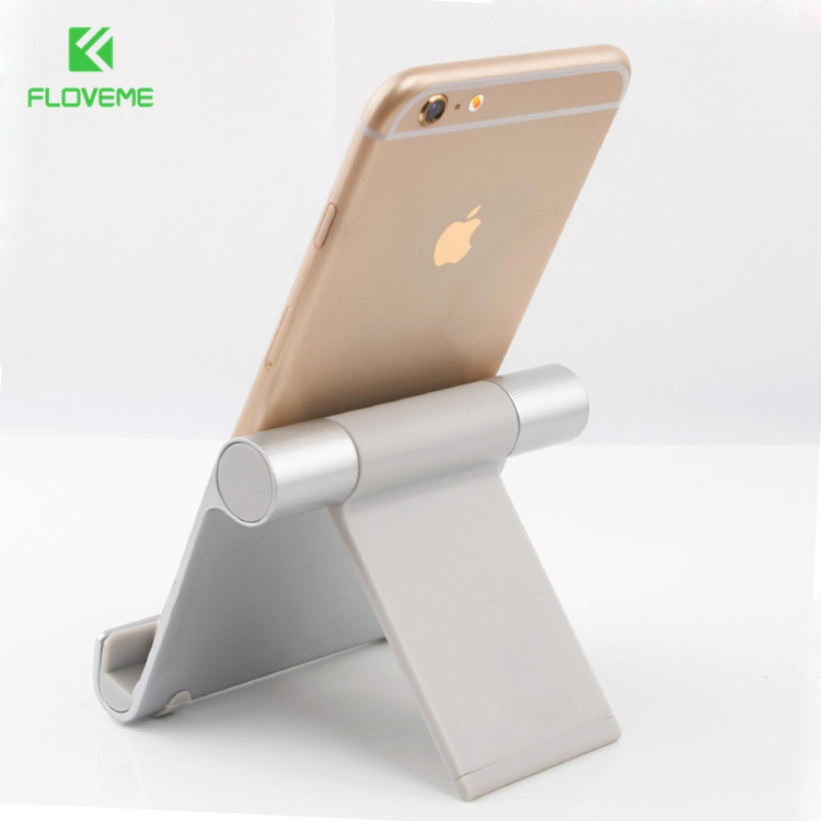 FLOVEME Aluminum Tablets Stand Case for iPad 2 3 4 Air 2 Mini for iPhone 5s 6 6S 7 Plus for Galaxy S7 Edge Flexible Angle Adjust