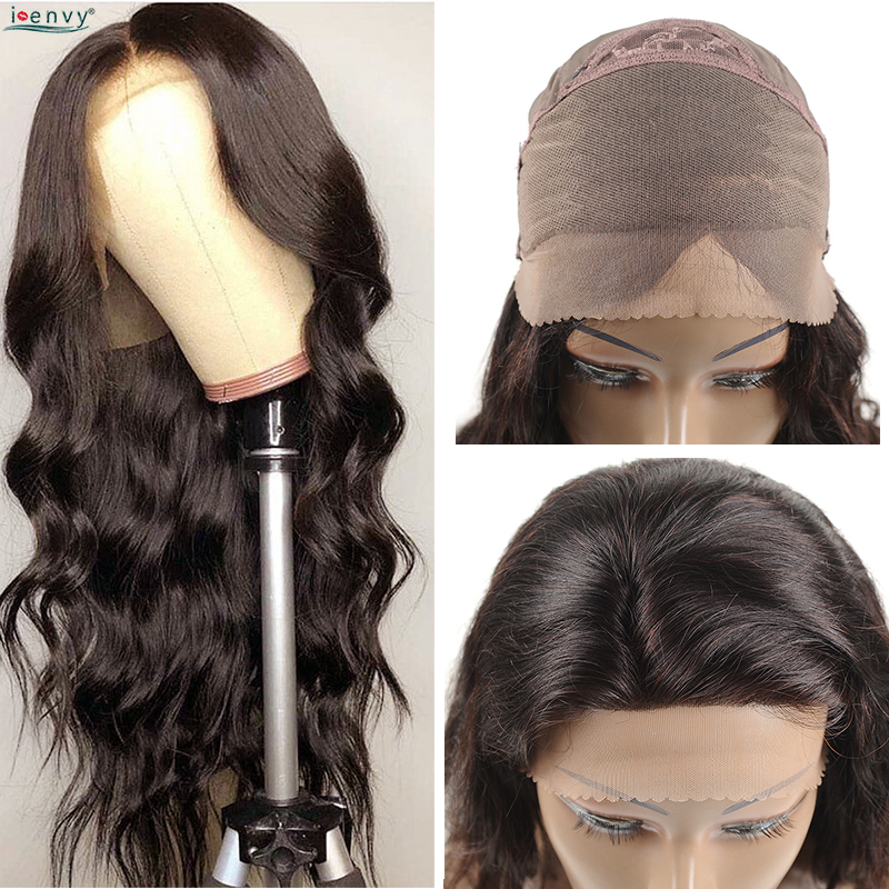 Lace Front Human Hair Wigs Pre Plucked Body Wave 13x4 Lace Frontal Wig Brazilian Human Hair For Black Women Natural Color Noremy