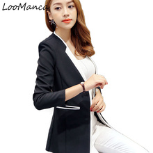Women Blazers and Jackets 2017 New Female Coat Ladies Long Sleeve Black White Blazer Femme Casual Suit Jacket