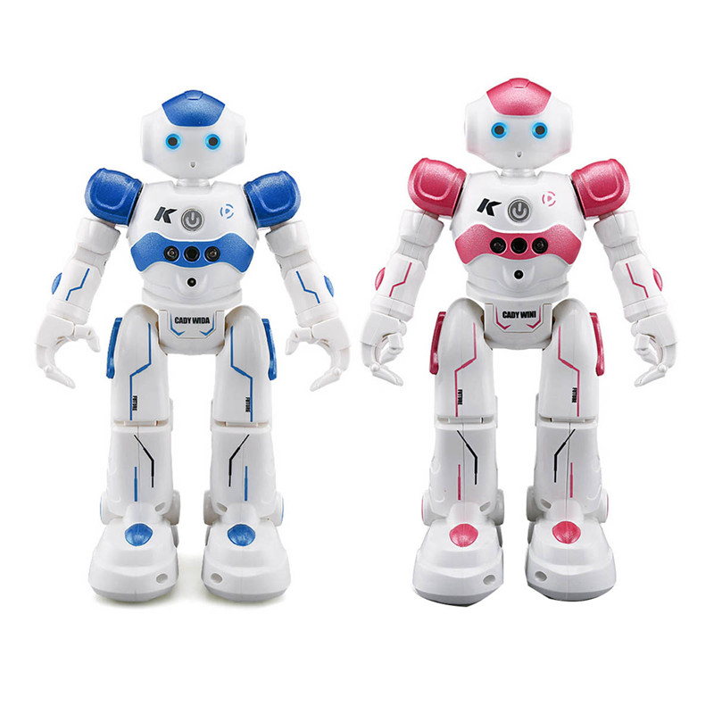 JJRC Toy Pink Blue For Kids Children Funny Birthday Gift Present R2 USB Charging Dancing Gesture Control RC Robot jjrc r1 dancing gesture control rc robot usb charging blue pink intelligent action figure robot toys for children birthday gift