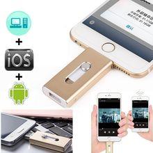 Ổ Đĩa Flash USB Android 32 gam 64 gam 128 Memory Stick Cho IOS11 iPhone 8, 7 cộng với 6 s ipad/PC OTG Ổ Đĩa Flash Lưu Trữ Bên Ngoài Đèn Flash
