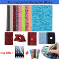 Grape Pattern PU Leather Cover For iPad 2 Case Leather Flip Smart Cover for iPad 4 Case Rotating Cases for iPad 3 9.7 inch