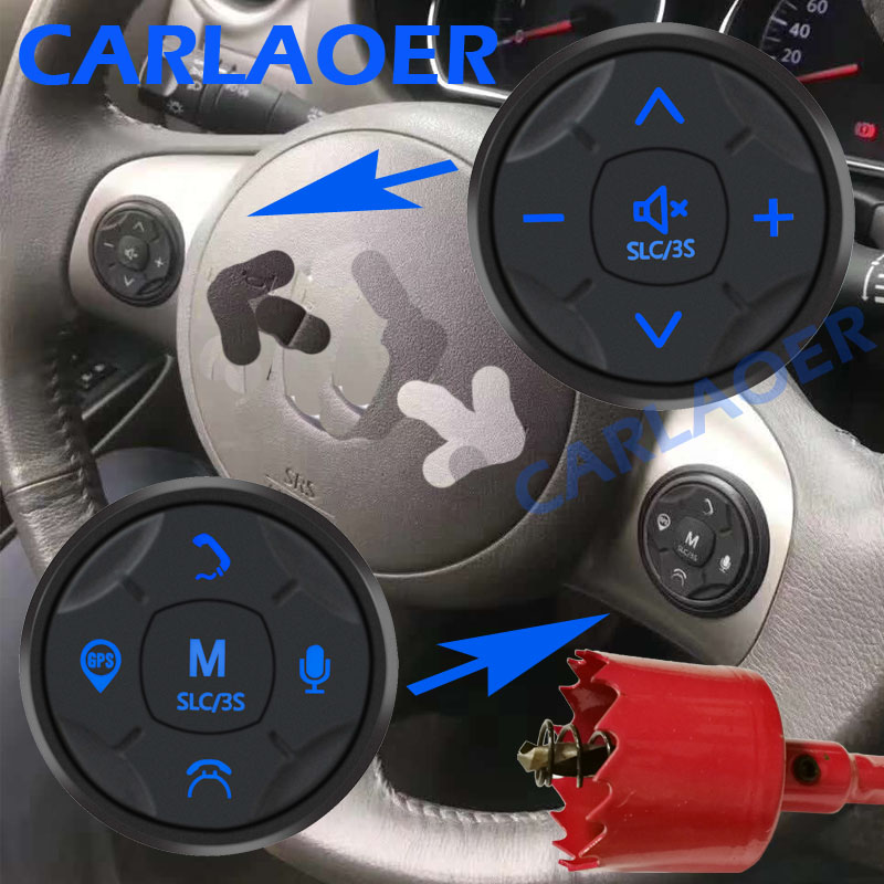 Car Steering Wheel Remote Controller Control Radio Via Wireless Bluetooth Connection Android 2 Din Player