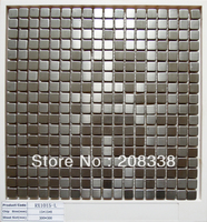 STAINLESS STEEL METAL TILE MOSAIC KITCHEN BACKSPLASH BATHROOM WALL 8MM