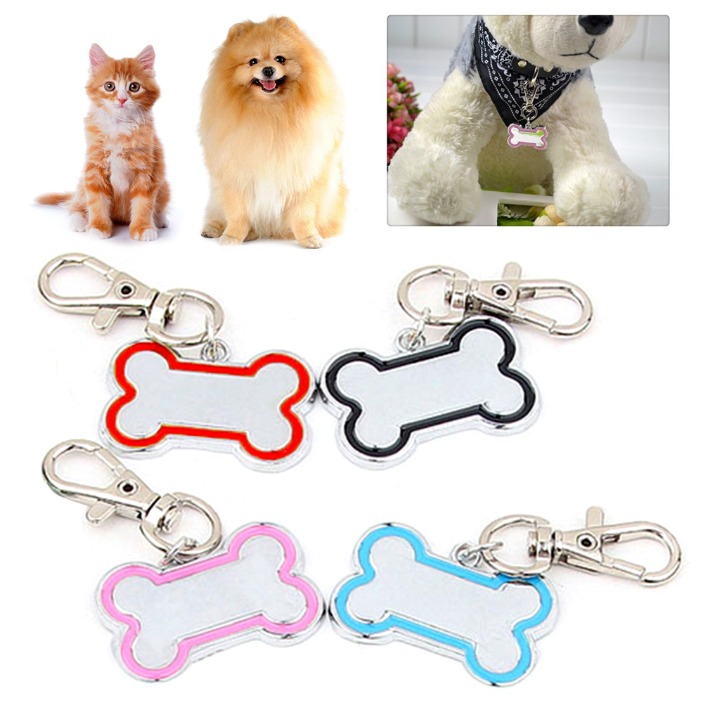 1Pc Bone Shape Personalized Engraving Pet ID Cat Dog Tag Identification Custom Name Collar Decoration