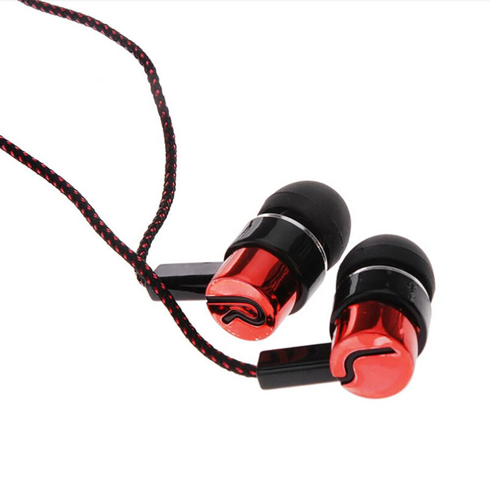 Fashion Braided Wire Sport Stereo Bass In-ear Headset Earphone For Phone PC Earphone наушники
