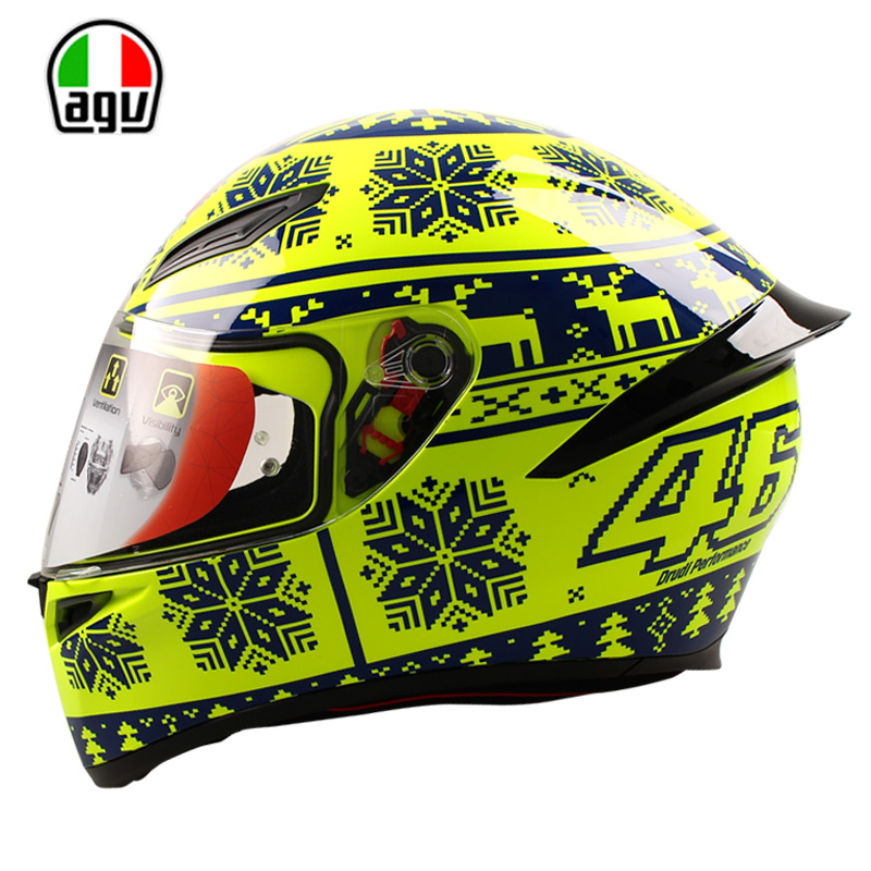 Original AGV K1 Motorcycle Helmet Full Face Helmet MOTO GP Racing Valentino Rossi Helmet Genuine VR46 Winter Test ECE Approval 2017 valentino rossi vr46 for yamaha racing blue motogp mens felpa zip up sweater