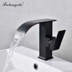 Bathroom Waterfall Faucets Basin Sink Taps Cold And Hot Water Vanity Vessel Sink Mixer Tap Deck Mounted WB1030