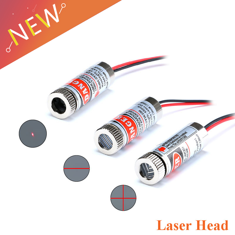 5Pcs/lot 650nm 5mW Red Point / Line / Cross Laser Module Head Glass Lens Focusable Industrial Class