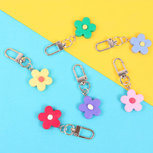 Luxury popular sun flower keychain cute candy color silicone Headphone Earphone Case For Apple Airpods Accessories cover