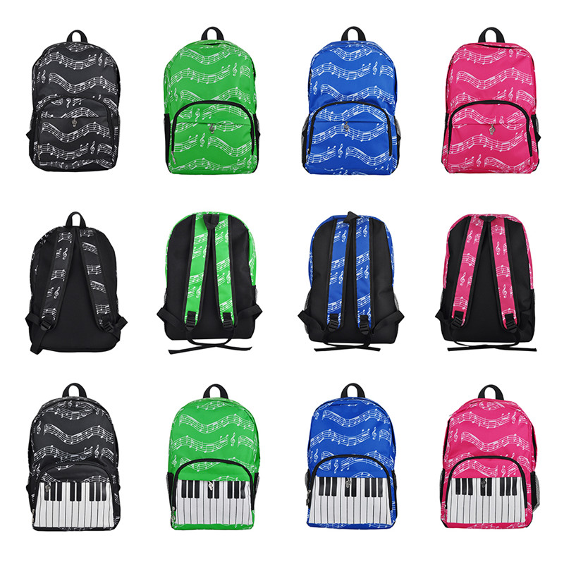 20-35L Music Bag Oxford Cloth Music Symbol Music Score Piano Keyboard Stave Version Musical Notation Sheet Backpack