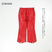 Real Leather Trousers Women Red Sheepskin Flare Pants Casual Winter Autumn Classic Women Genuine Pure Leather Fashion Trousers
