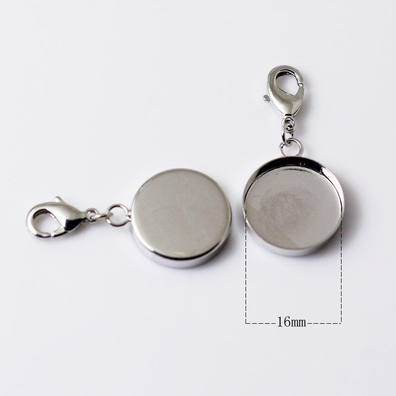 Горячая распродажа! Подвеска пустая/подвеска с раздельными кольцами и застежка-краб/Подкладка внутренний диаметр 16 мм, ID: 12205 - Окраска металла: 16mm Platina  Plated