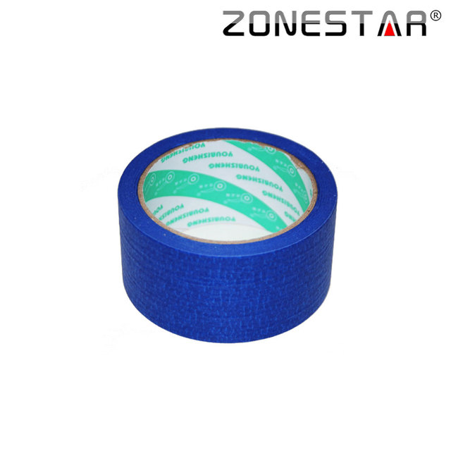 Zonestar 3D Printer Blue Tape 50MM X 25M Blue Painters Tape Heat Tape Resistant High Temperature Polyimide Adhesive Tape