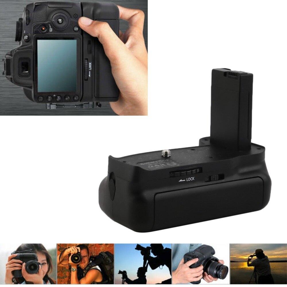 цена на WOLFGANG Black Durable Lightweight Ergonomical Slip-Proof Rubber lining BG-2F Vertical Battery Grip Holder for Nikon D3100 D3200