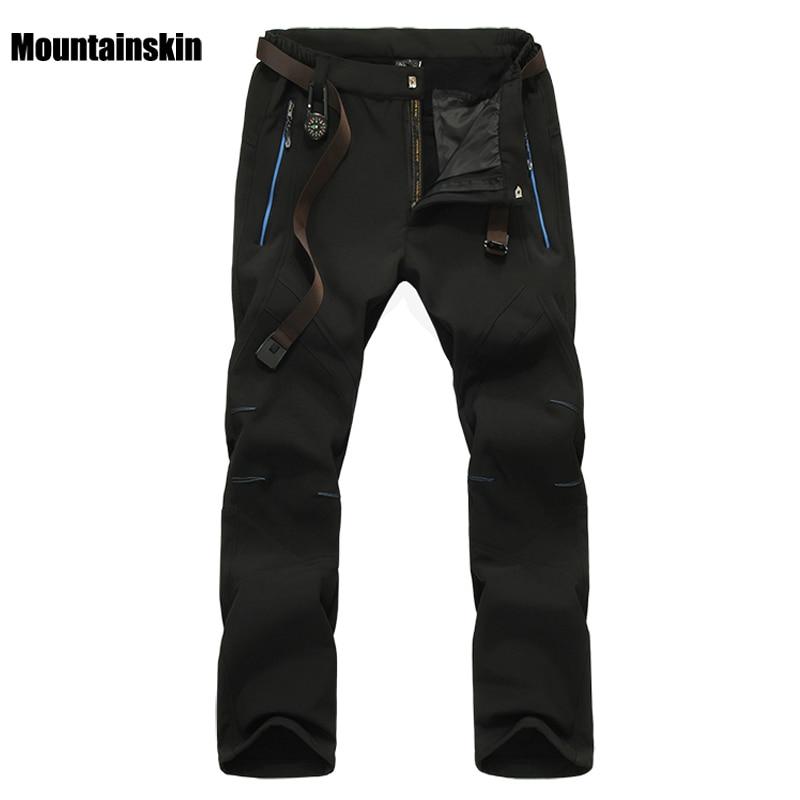 Mountainskin Men's Winter Softshell Fleece Pants Outdoor Sports Waterproof Skiing Trekking Hiking Camping Male Trousers VA056