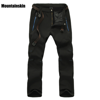 Mountainskin Men s Winter Softshell Fleece Pants Outdoor Sports Waterproof Skiing Trekking Hiking Camping Male Trousers