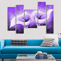 Barocco shop huge modern abstract hand-painted oil painting on canvas 5pcs/lot no framed home decoration gift