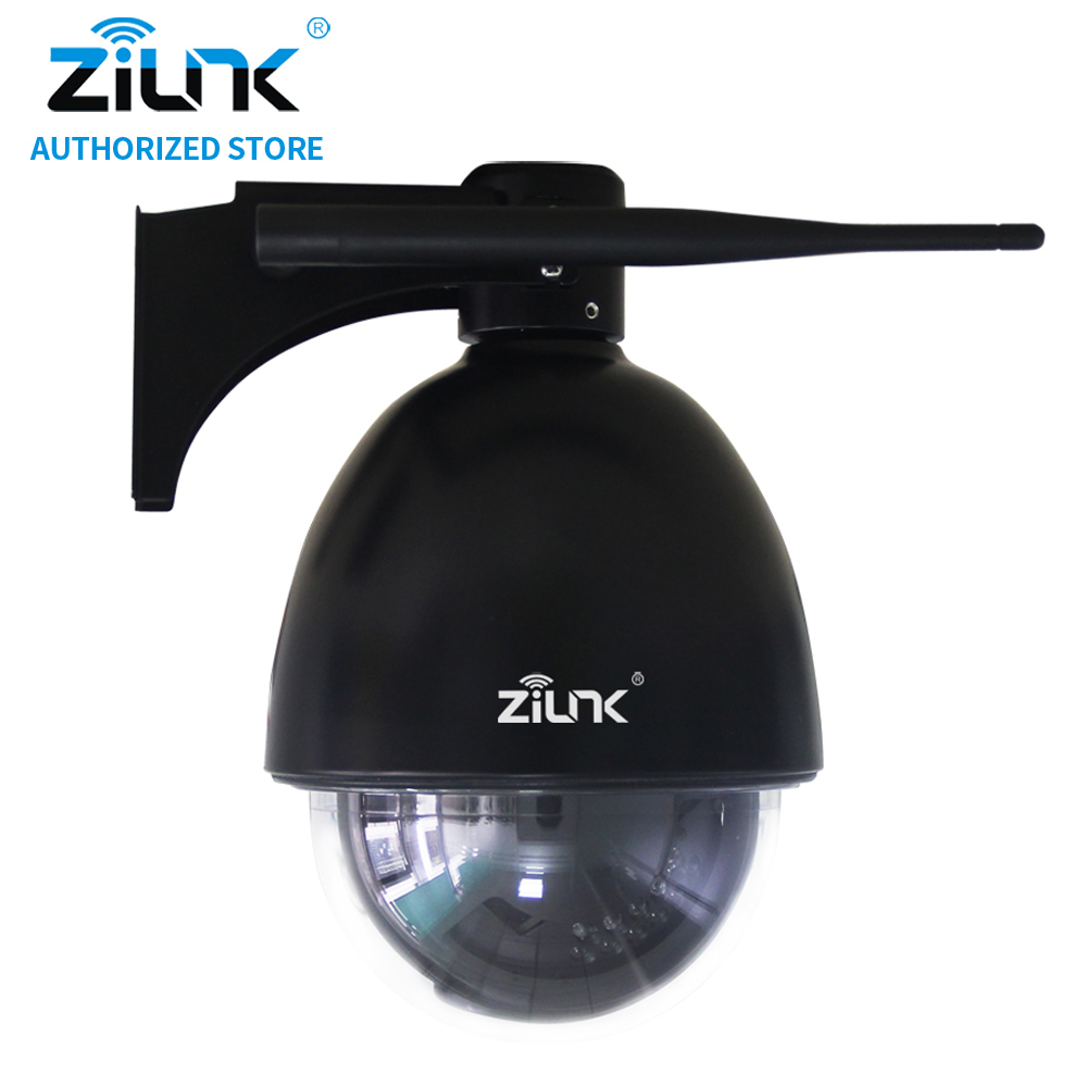 ZILNK Mini PTZ Speed Dome IP Camera 960P 5x Optical Zoom Waterproof CCTV WiFi Support TF Card Motion Detection ONVIF H.264 Black cctv 1080p 2mp 20x zoom optical ptz ip camera motion detection camera in high speed with150m night view onvif network ip camera