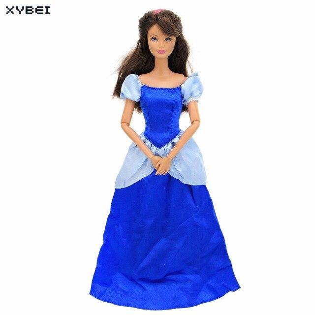 Jurk Bruiloft Blauw.Sprookje Outfit Kopie Prinses Cinderella Jurk Bruiloft Lange Gown