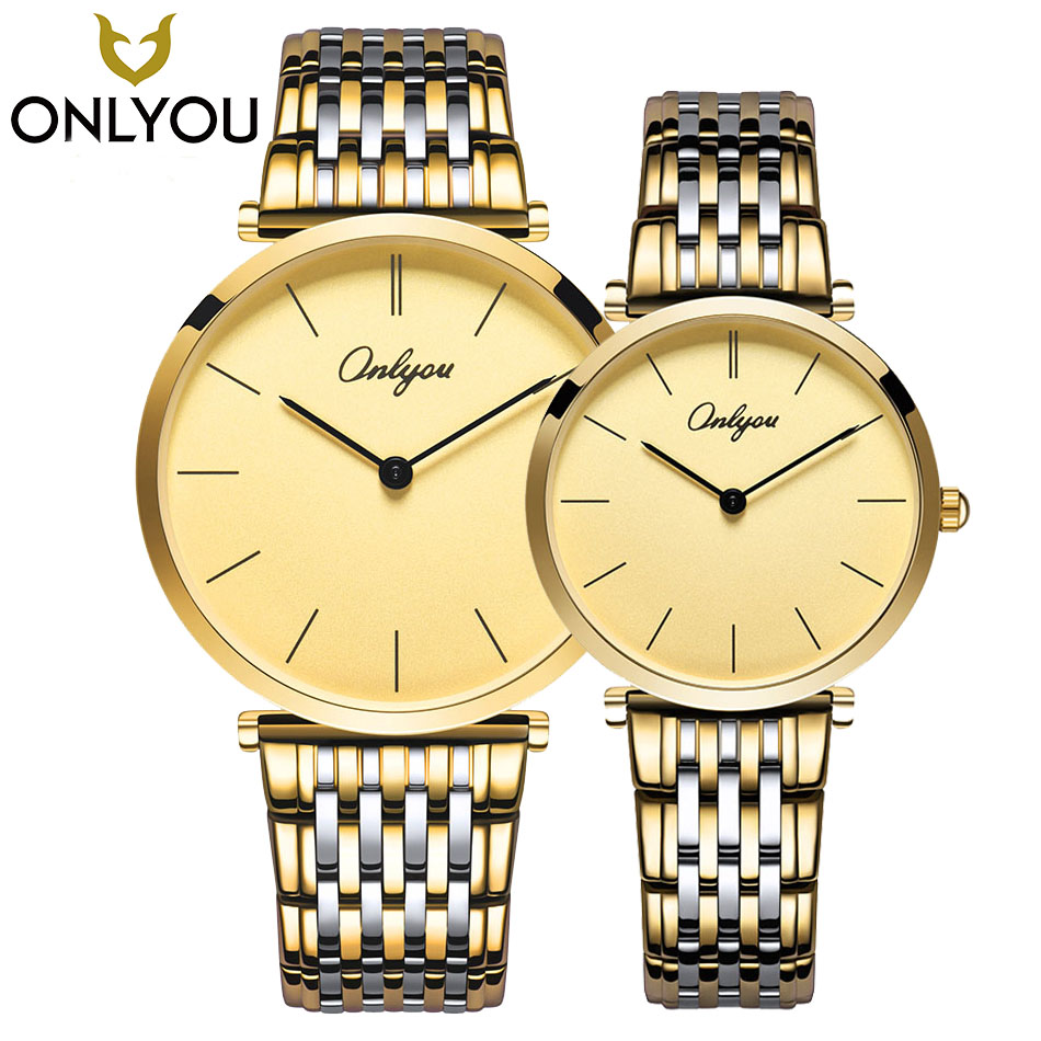 ONLYOU Lovers Watches Ladies Fashion Casual Wristwatch Men Business Waterproof Watch Women Luxury Quartz Clock Wholesale onlyou men s watch women unique fashion leisure quartz watches band brown watch male clock ladies dress wristwatch black men