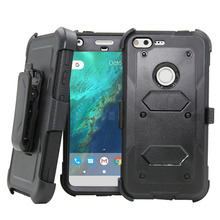 Heavy Duty Rugged Armor Case Holster With Belt Clip 360 Degree KickStand Shockproof Hard Cover Case For Google Pixel/Pixel XL