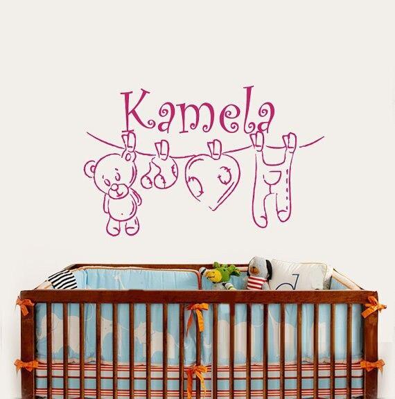 Online Get Cheap Baby Girl Sticker Aliexpresscom Alibaba Group - Personalized custom vinyl wall decals for nursery
