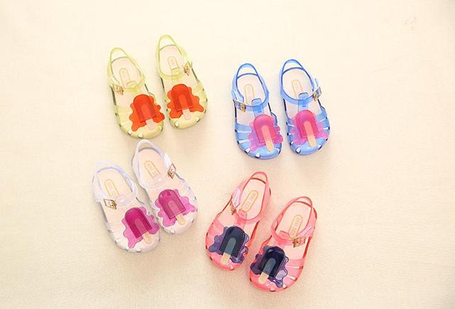 4b479759447f3 Mini Melissa Kids Shoes Slingback Sandal (Toddler) Popsicle Brand New Cool  Summer Sandals 4 colors 12pairs lot DHL Free