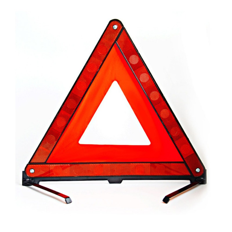 ONEWELL Emergency Hazard Sign Car Triangle Warning Sign Auto Breakdown Warning Triangle Reflective Stop Sign Board Cars Tripod|Reflective Strips| |  - title=