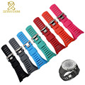 Silicone Rubber bracelet Smart watche band waterproof 32mm black wristwatches band Free tools sport smart watchband for SUUNTO