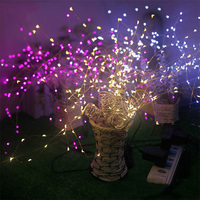 198leds 36 Branches DC12V led string light indoor outdoor Christmas decoration tree lamp with Base Fairy Romantic lighting CF288