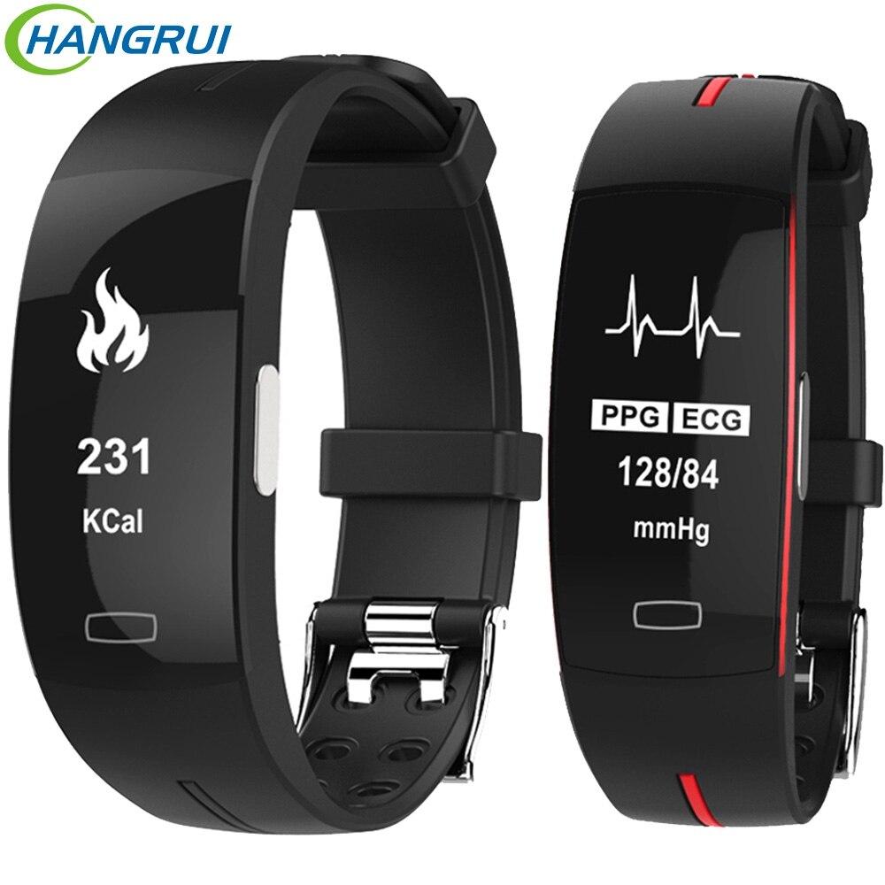 Hangrui H66 Blood Pressure Smart Band Fitness Tracker Bracelet PPG ECG Heart Rate Tracker Smart Watch