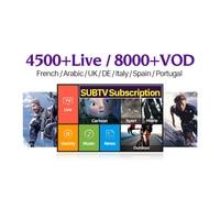 IPTV France Arabic Italian Canada SUBTV Subscription IP TV Code Portugal Turkey IPTV France Arabic Italy French 1 Year IPTV Code