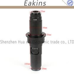 10X-200X Zoom continu réglable 25mm c-mount lentille 0.7-4.5X adaptateur pour l'industrie Microscope caméra oculaire loupe