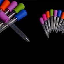 5 мл Прозрачная силиконовая пластиковая ложка-капельница для детской медицины, пипетка, жидкая пищевая капельница, бюретка 12 см* 2 см, случайный цвет