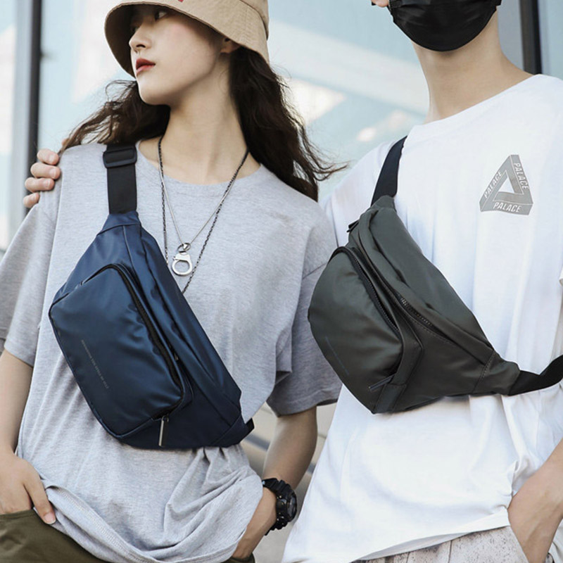 Unisex Waist Bag Fanny Pack Street Style Chest Bags Hip Hop Packs Fashion Waterproof Crossbody Bag Waist Pack Phone Pocket