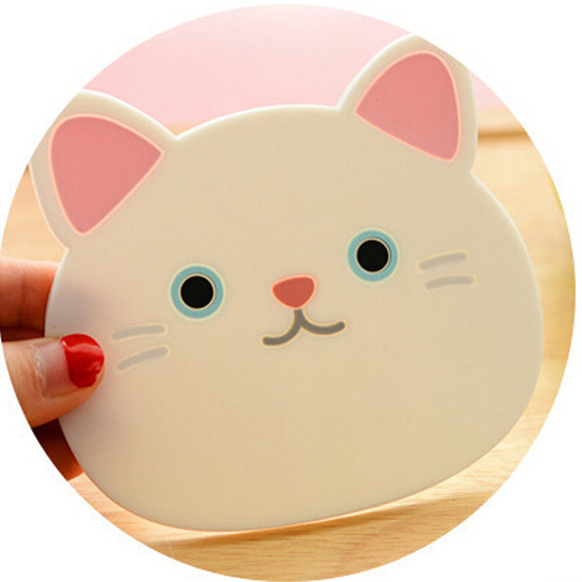 6 style silikonowe podkładka na stół podkładka pod herbatę Cute Cat wzór podkładka silikonowa podkładka Coaster kubek miska kawy Pad