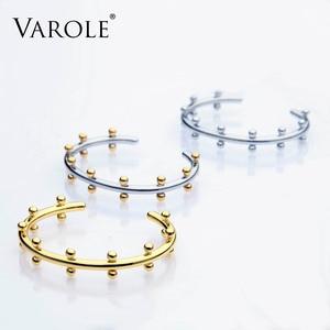 Image 3 - VAROLE Noeud Armband Gold Color Bracelet Manchette Bangles Metal Beads Cuff Bracelets & Bangle For Women Jewelry Pulseiras