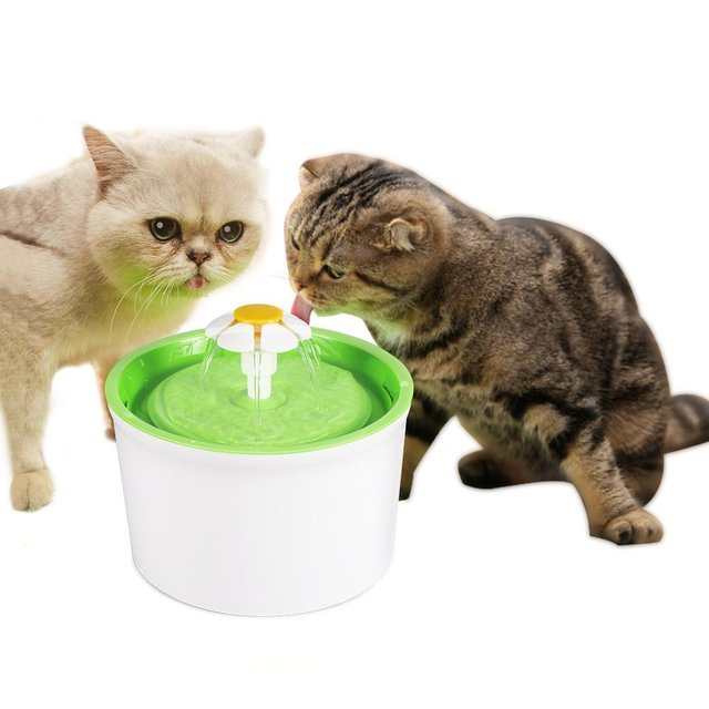Automatic Cat Dog Pet Water Fountain Pet Bowl Cat Drinking Flower Water Dispenser Petsafe Drink with Filters Pet Water Fountain 1