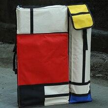 4 k renkli moda Taşınabilir Boyama Kurulu Çantası Taşıma Çantası Çizim şövale çantası su geçirmez pano Taşıma Eskiz Çantası