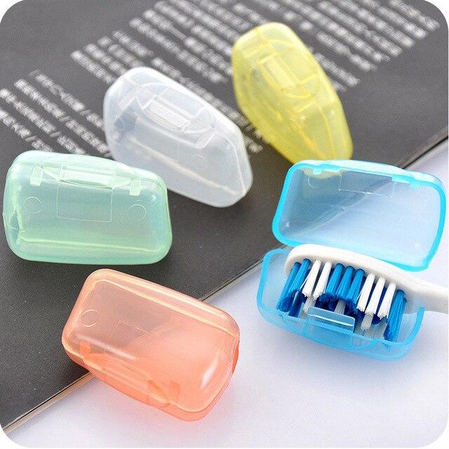 Spazzolino da denti Copertura Brush Cap Caso Portatile di Viaggio di Campeggio D