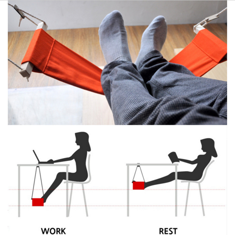 Portable Office Mini Foot Rest Stand Lifted Lead gift Home Study Library Comfortable Indoor Desk Easy disassembly Feet Hammock airplane footrest